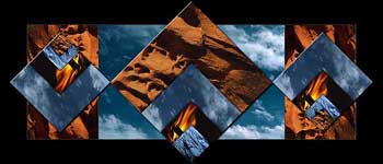 jpg image of fine art collage by Artist Doug Craft from the 2005 Elements in Golden Ratio series of work